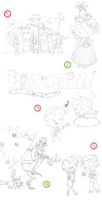 Christmas Sketch, by RJolih-99