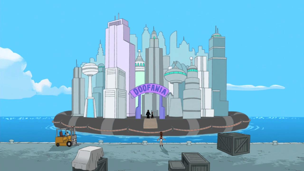 Phineas And Ferb Dr Doofenshmirtz Building Doofania  Doofenshmirtz