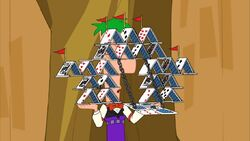 Ferb with playing cards 4