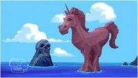 Skull and Pink Unicorn Island