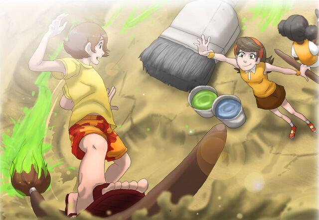 File:Surfin' the... paint?, by Sakura-Hammy.jpg
