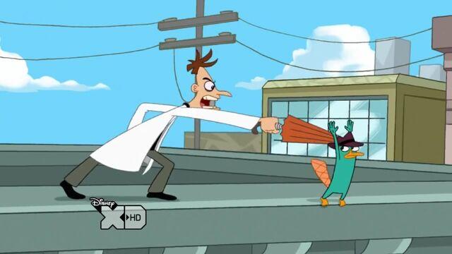 File:Doofenshmirtz thrusting an umbrella at Perry.jpg