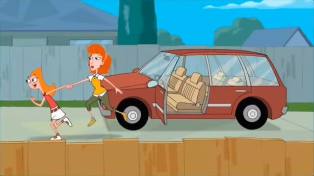 File:Candace taking Linda to the backyard to see what Phineas and Ferb did.jpg