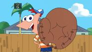 Phineas with baseball glove
