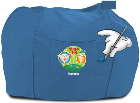 File:Personalized P&F bean bag chair - blue.jpg