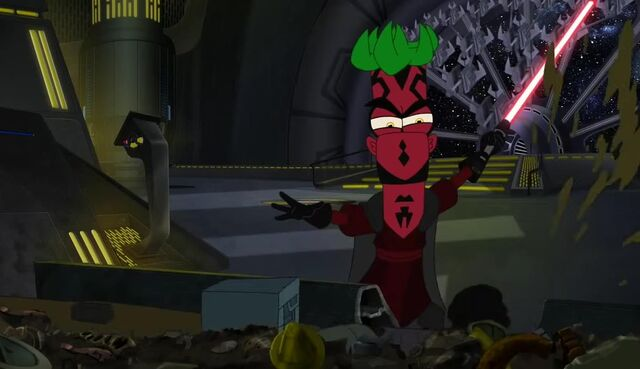 File:Darth Ferb slashes the garbage disposal.JPG