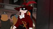 Monty arrives as the Scarlet Pimpernel