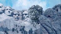 The disgusting monument breaks