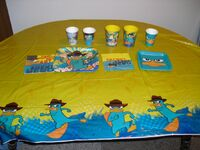 Hallmark Agent P birthday party tablecloth