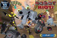 Robot Riot main menu