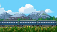 Train in Cornfield (Side Tracked)