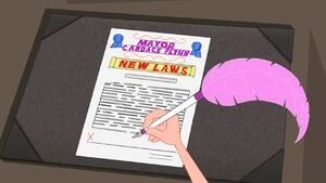 Mayor Candace signing new laws