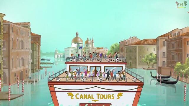 File:Audience riding into Venice, Italy.jpg