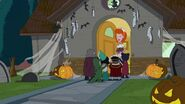 Linda and the trick or treaters