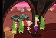 Ferb was explaining to the martians