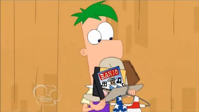 File:Ferb with his stuff.JPG