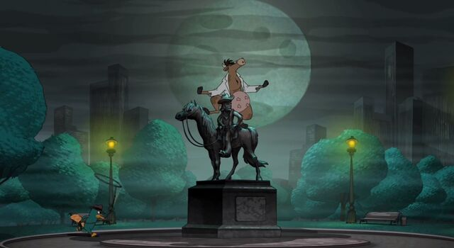 File:Werecow Doofenshmirtz on top of a statue.jpg