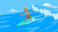 Bobby Nelson surfing