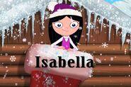 Isabella in a stocking