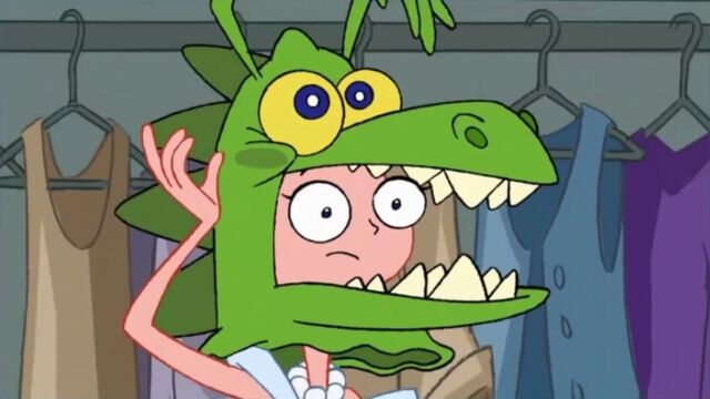 File:Candace wearing a monster mask.jpg