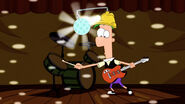 Ferb provides the light show