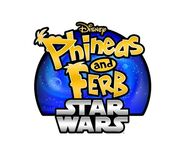 Phineas and Ferb Star Wars logo - white background
