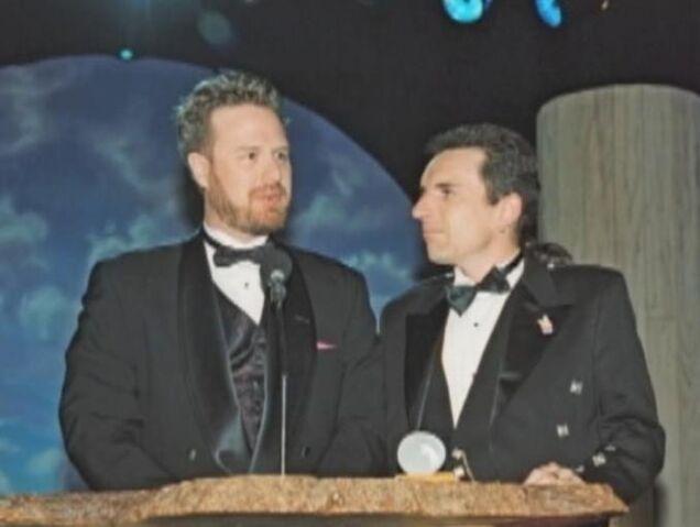 File:Dan and Swampy accept an award.jpg