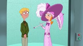 Candace and jeremy in the elevator