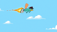 Perry flies alone