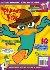 Phineas and Ferb magazine July-August 2014 cover