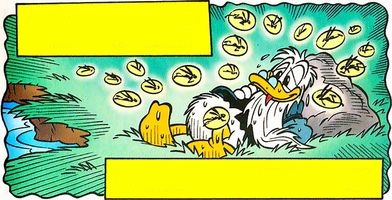 If it isn't clear, an exhausted, nearly-fainted Grandpa Duck is being rescued by Pixies.