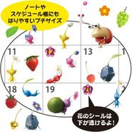 Pikmin calander stickers 2