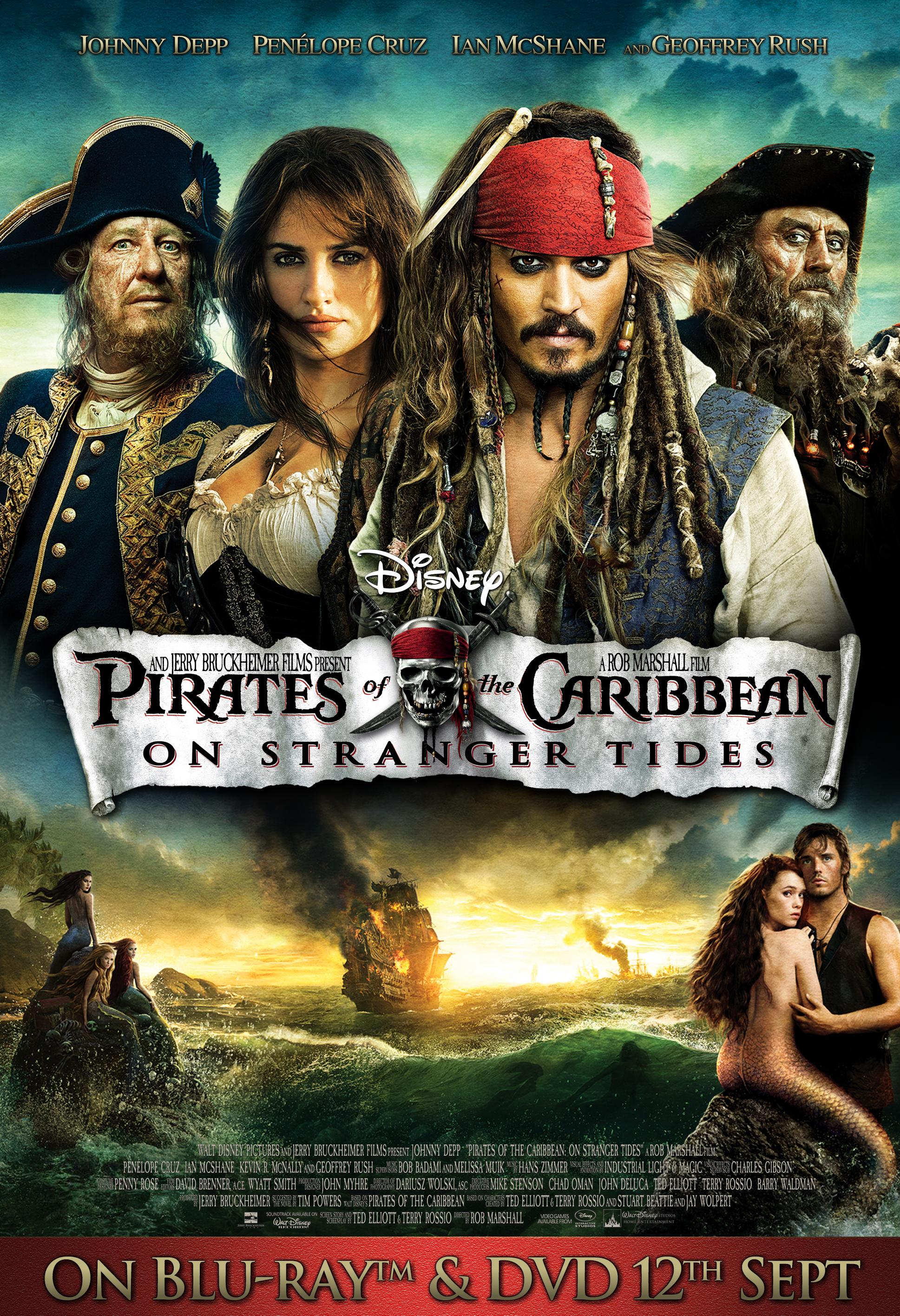 Image - Pirates of the Caribbean On Stranger Tides UK DVD ...