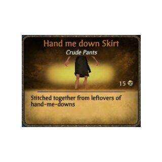 Black Hand me down Skirt