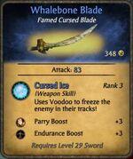 Whalebone Blade Cursed Blade