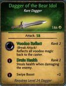Dagger of the Bear Idol