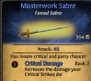 Masterwork Sabre