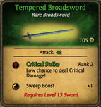 Tempered Broadsword 2010-11-24