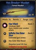 Hex breaker musket