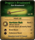 Dragoon's Broadsword