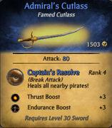 Admirals Cutlass