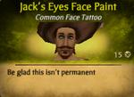 Jack's Eyes Face Paint
