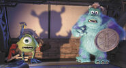 Monsters Inc Mike Sulley Boo shadow
