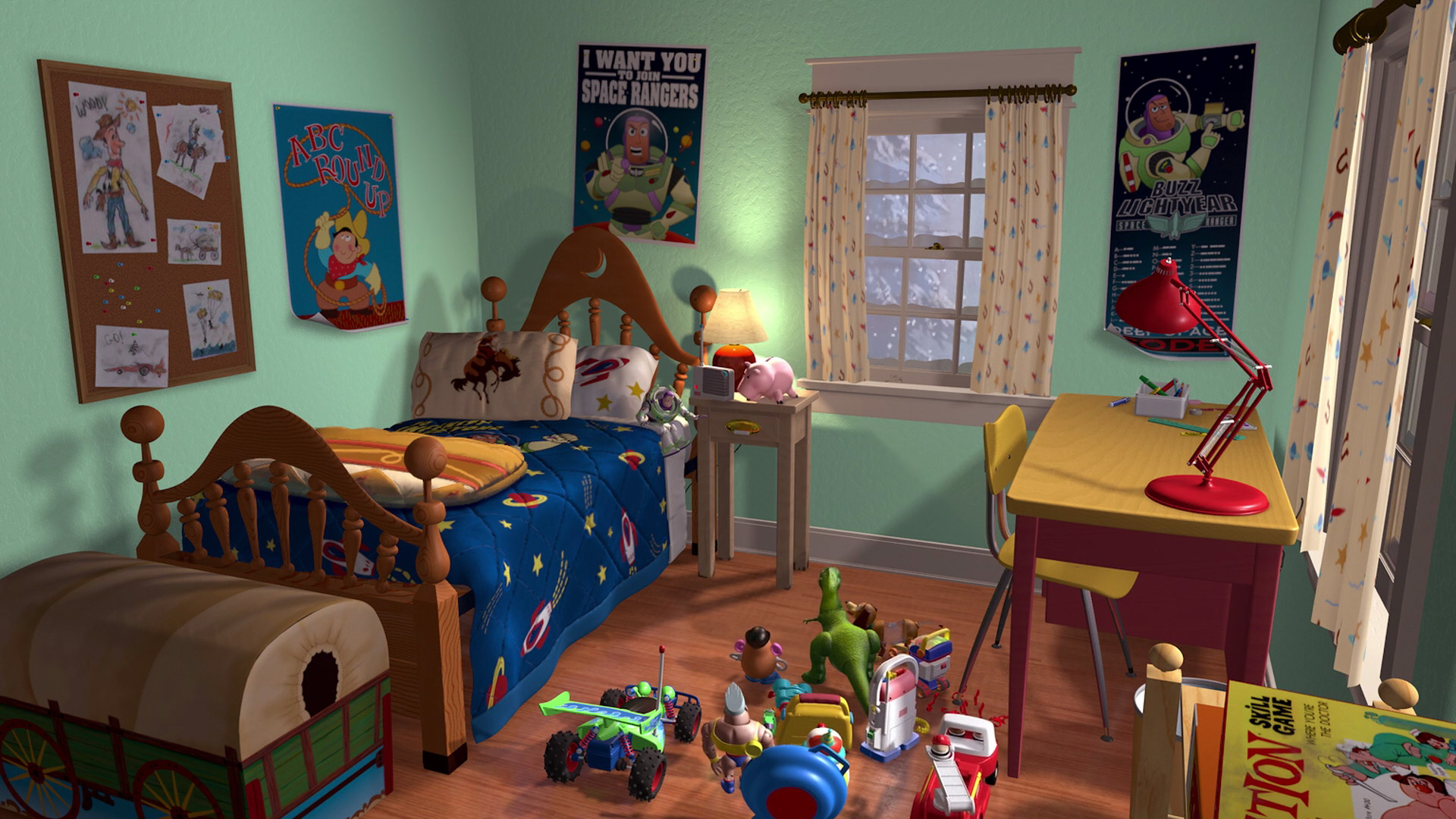 Image Andysnewroom Jpg Pixar Wiki Fandom Powered By