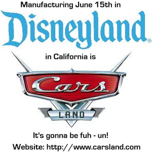 Cars Land Poster 3