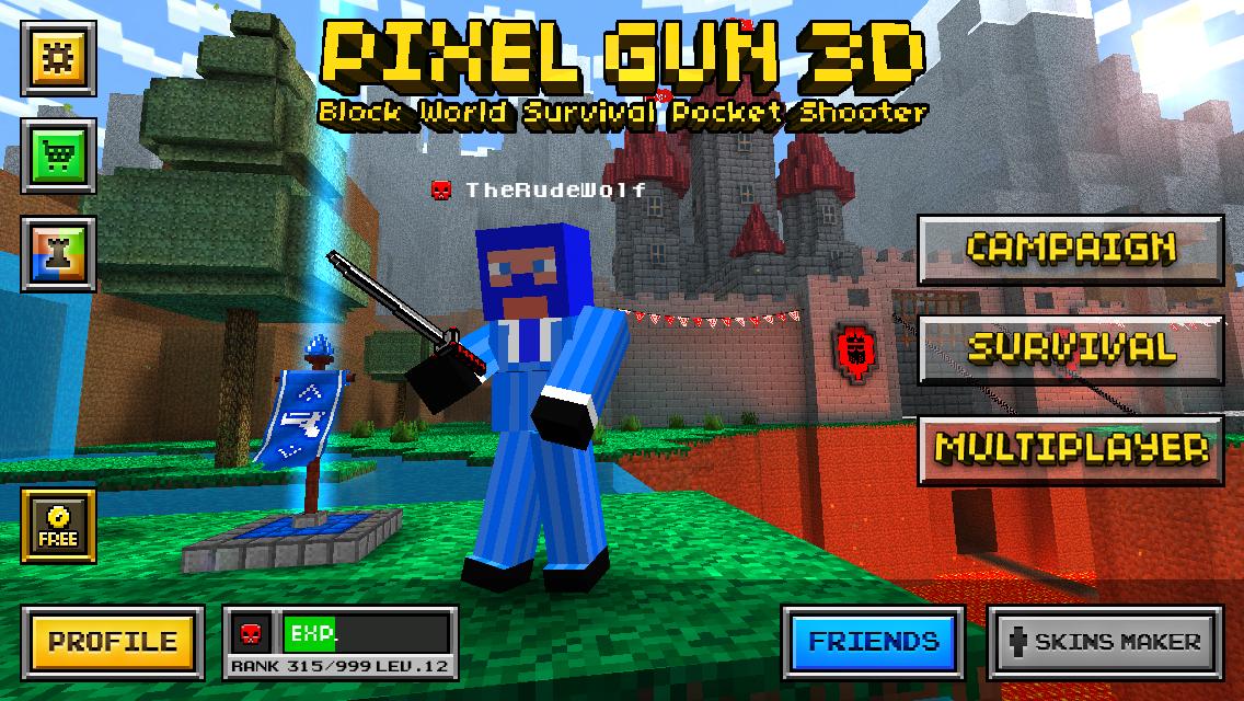 Скачать Pixel Gun 3D 1 3 2 для Android - Trashbox ru