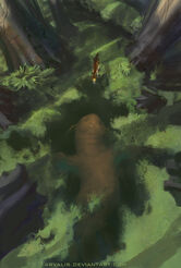 Dragonite nella palude