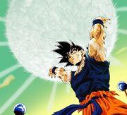 Goku podczas kumulacji Genki-Damy na Namek.jpg