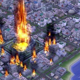 Pożar miasta.