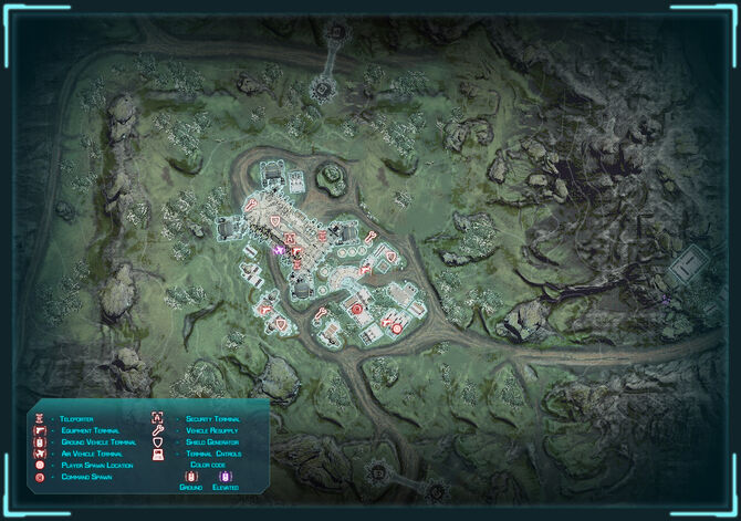Generic Tech Plant Overview Map